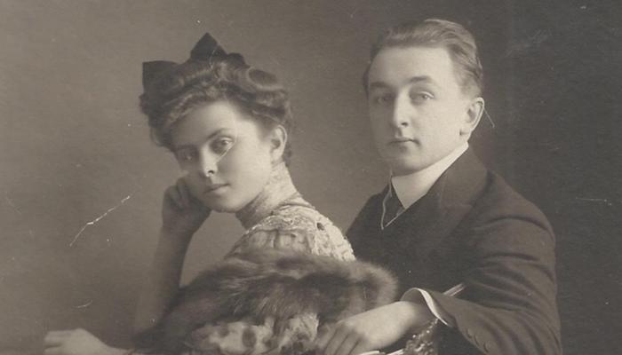 Thomas and Olga de Hartmann, wedding picture 1906